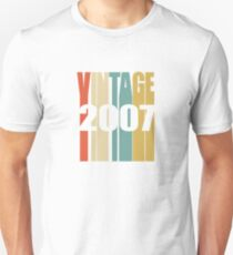 Vintage 2007 Birthday Retro Design  Unisex T-Shirt