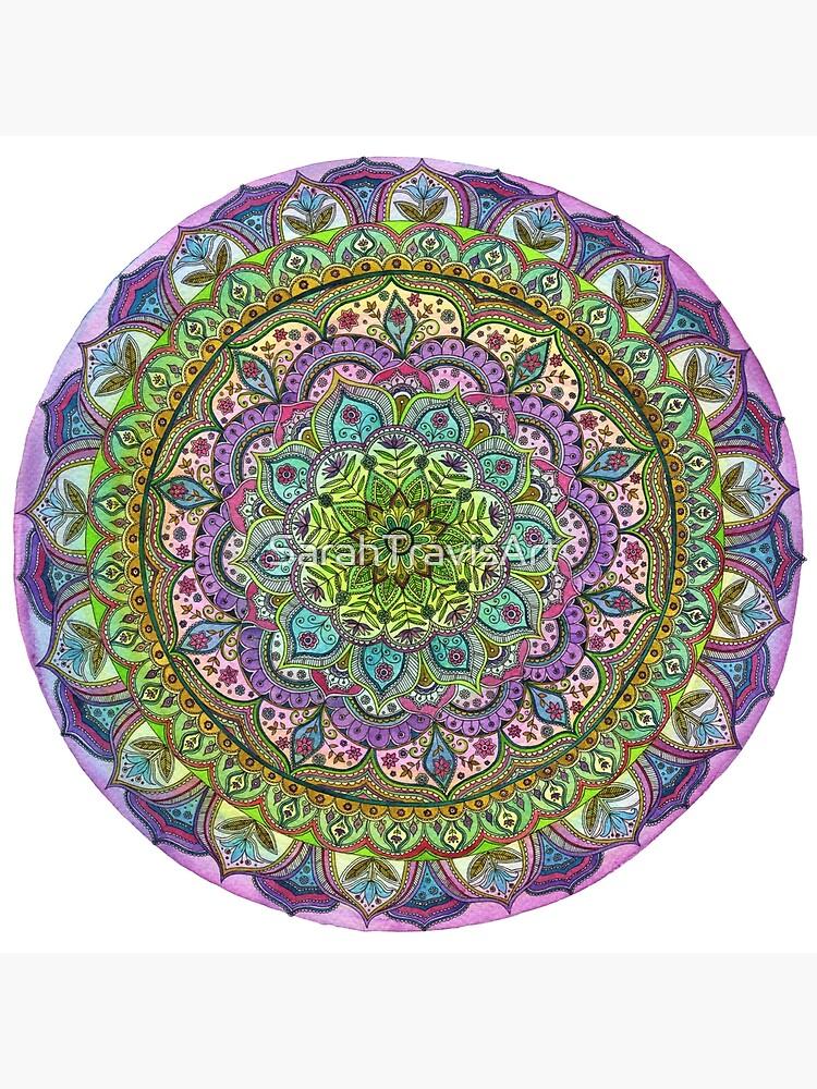 Floral Mandala von SarahTravisArt