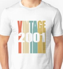 Vintage 2001 Birthday Retro Design  Unisex T-Shirt