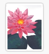 Pink Water Lily Painting Sticker
