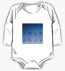 Astro Horoscope Signs in Galaxy Night Sky Kids Clothes