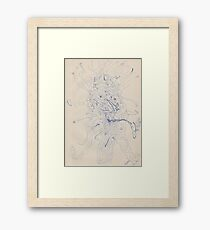 0608 - Abstract Portrait of a Pipe-Smoking Man Framed Print