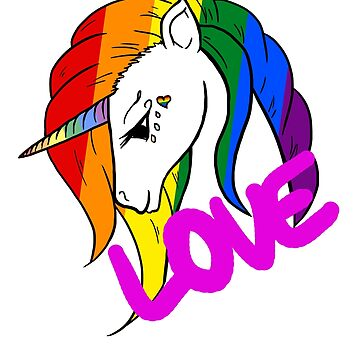Gay Pride Unicorn by WaterHorseyBlue