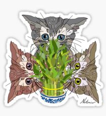 Lucky Kitten Bamboo Sticker