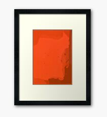 Orange you Simplistic Framed Print