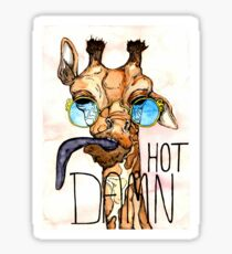 Hot Damn Giraffe  Sticker