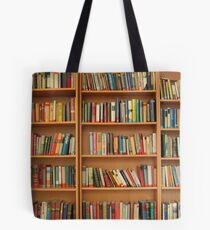 Bookshelf Books Library Bookworm Reading Tote Bag