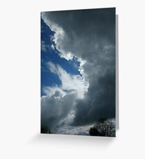 cloudy day in heaven  Greeting Card