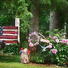 Patriotic Peonies by Nadya Johnson