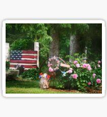 Patriotic Peonies Sticker