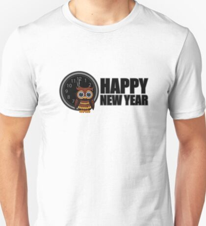 Happy New Year - Owl T-Shirt