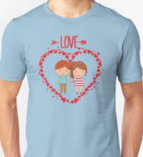 Love romantic t-shirt tee shirt heart boy girl. Unisex T-Shirt