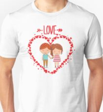 Love romantic t-shirt tee shirt heart boy girl. Unisex T-Shirt