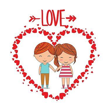 Love romantic t-shirt tee shirt heart boy girl. by trustedseller2