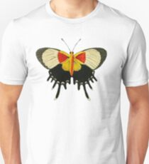 A Butterfly With Yellow And Red Unisex T-Shirt