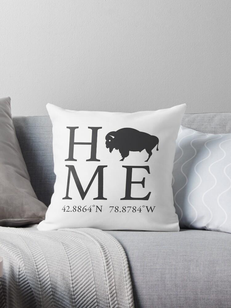 Buffalo Ny Home Throw Pillows By Blizzard77 Redbubble