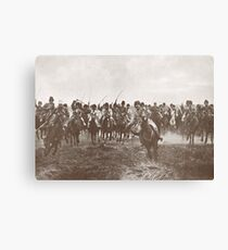 Russian Cossacks charge, WW 1, 1914 Canvas Print