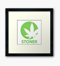 Stoner Weed Leaf Design Framed Print