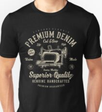 Premium Denim - Sewing Machine  T-Shirt