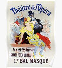1897 Masquerade ball Paris Opera Poster