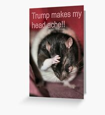 Trump...bringing jobs to the asprin company Greeting Card