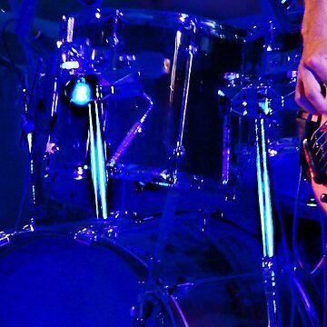 Drum kit in weird lighting by jade77green