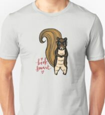 The Nerdy Book Smart Squirrel  Unisex T-Shirt