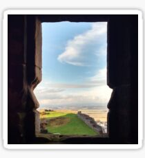 Through the window at Stirling castle Sticker