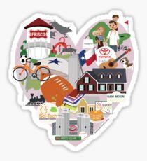We Love Frisco Texas Sticker