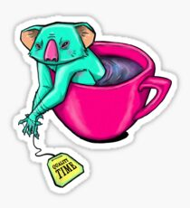 Koala-tea time Sticker