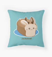 Cute Pun: Jackalope Bread Loaf Throw Pillow