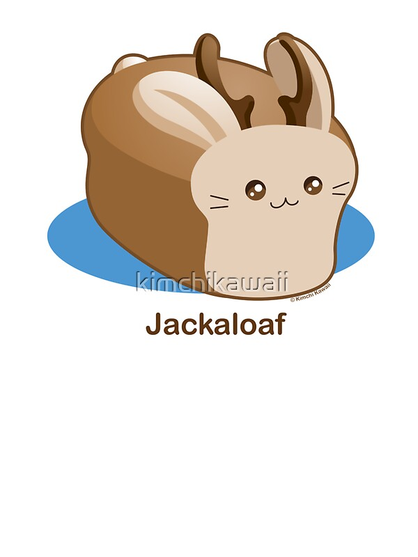 Cute Pun Jackalope Bread Loaf