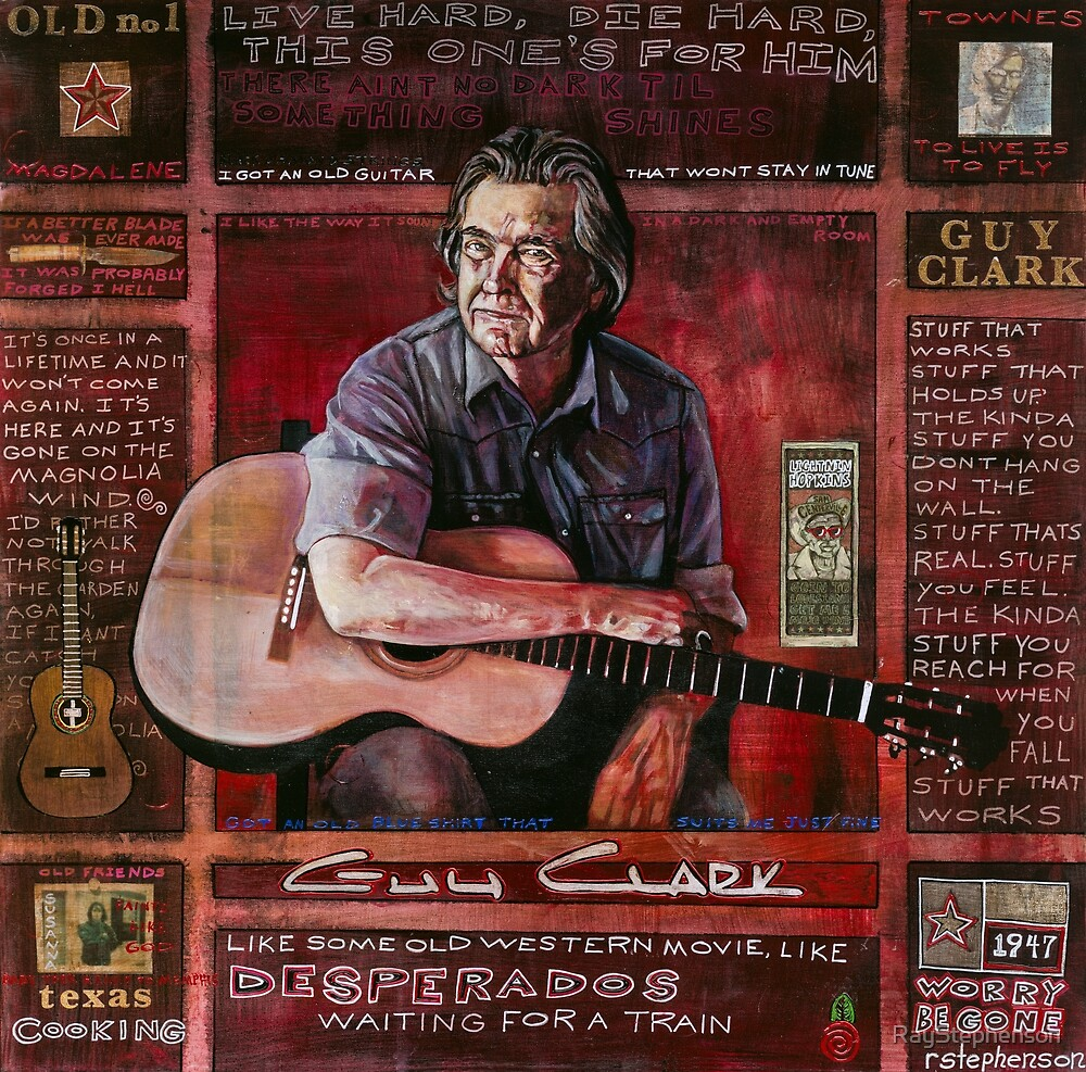 Guy Clark in Red by RayStephenson