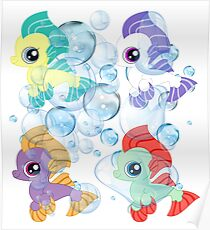 my little pony baby sea ponies Poster