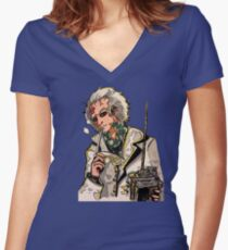 Doc Brown Women's Fitted V-Neck T-Shirt