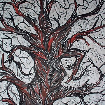 wicked spooky inked tree art by JenStedmansArt
