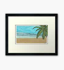 Beach waves. Framed Print