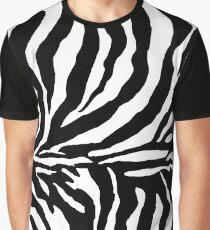 Zebra Print - Black and White Graphic T-Shirt