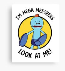 -RICK AND MORTY - Mr Meeseeks Megaman  Canvas Print