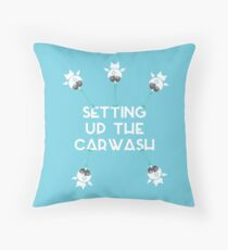 Setting up the Car wash Throw Pillow