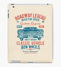 Roadway Legend - Classic Vehicle - Iron Wheels iPad Case/Skin