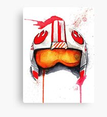 REBEL PILOT HELMET SKYWALKER Watercolor Starwars Canvas Print