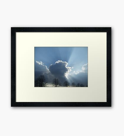 cloudburst Framed Print
