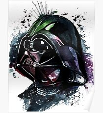 Darth Vader Colorfull Watercolor Poster