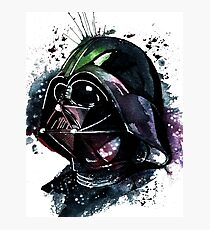 Darth Vader Colorfull Watercolor Photographic Print