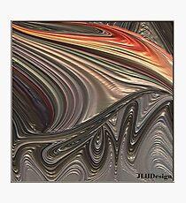 Metallic Wave Photographic Print
