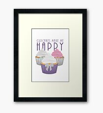 Cupcakes Make Me Happy Framed Print