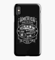America Runs On Diesel iPhone Case/Skin