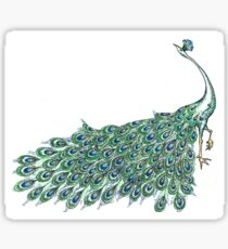 Sophisticated Peacock  Sticker