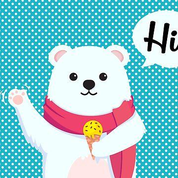 Ice Cream Polar Bear by lenorelocken